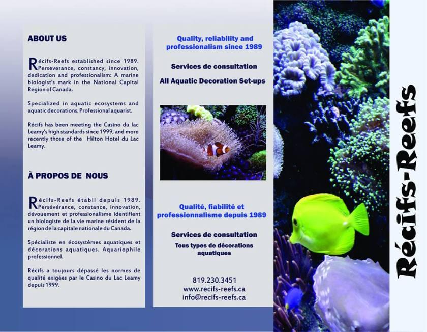 Récif-Reef Brochure Front