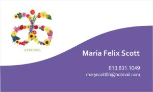 Business Card Maria Felix Scott - Arbonne