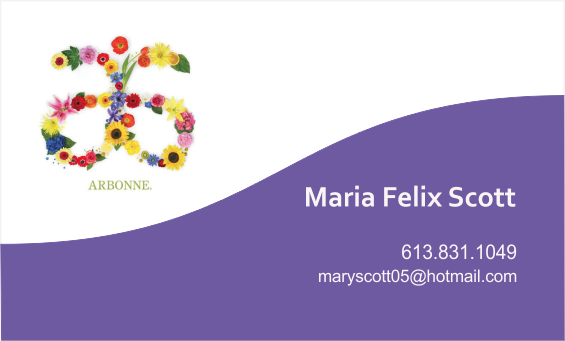 Business Card Maria Felix Scott - Arbonne